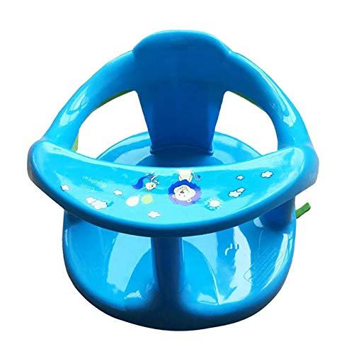 Crazyfly Baby-Badewannensitz, sicher, langlebig, aus Kunststoff, mit Rückenlehnenstütze und Saugnäpfen, für Babys