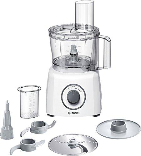 Bosch Kompakt-Küchenmaschine MultiTalent 3 MCM3100W, 20 Funktionen, Rührschüssel 2,3 L, Universalmesser, Schneid-Raspel-Wendescheibe, Schlagscheibe (Sahne), Einfüllhilfe, Deckel, 800 W, weiß
