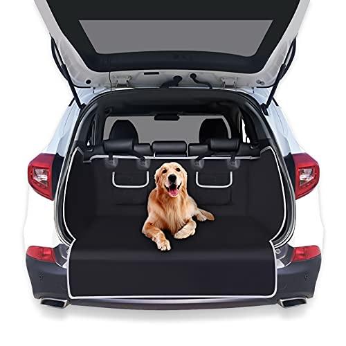 Siivton Hundesitzbezug, wasserdicht und Kratzfest Weiche Rücksitzbezüge für Autos Hundehängematte für Autos, LKWs, SUVs mit Seitenklappen