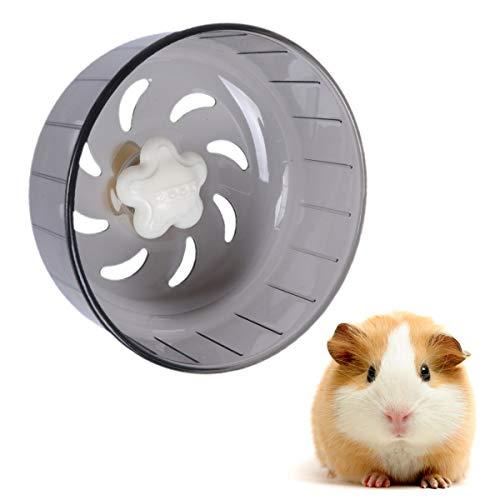 balacoo Hamsterlaufrad Silent Heimtrainer Kunststoff Kleines Tierspielzeug Käfigaufsatz für Hamster Rennmäuse Mäuse Andere Kleine Haustiere Grau