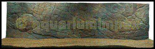 3D Aquarium Rückwand 200x60 Aquariumrückwand Dünn