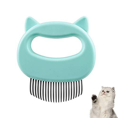 Massagekamm für Haustiere, Katzen, Hunde, Muschelkamm, entspannender Katzenkamm, Fellpflege, Haarentfernung, Reinigungsbürste