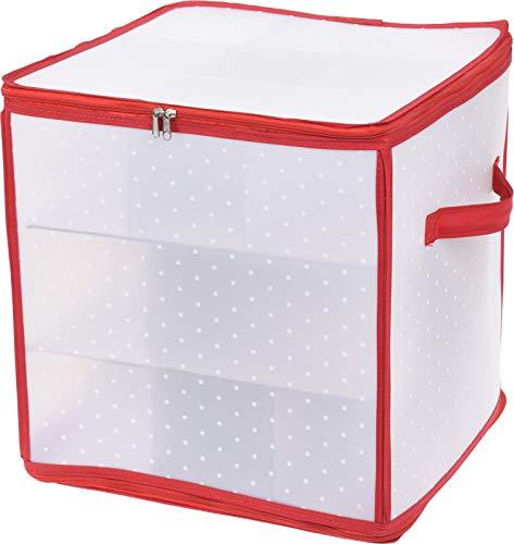 MIJOMA Aufbewahrungsbox Sortierbox Weihnachtstasche für Christbaumkugeln Weihnachtsschmuck (31 x 31 x 31 cm - für 27 Teile)