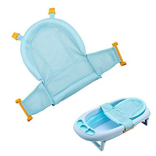 Aerobin Baby-Badewannensitz, verstellbar, mit Netz, für Neugeborene, Blau