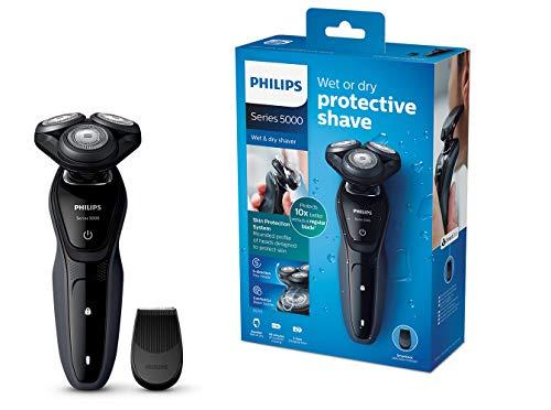 Philips Series 5000 Elektrischer Nass-und Trockenrasierer S5270/06, mit Comfort Cut-Klingen, Präzisionstrimmer