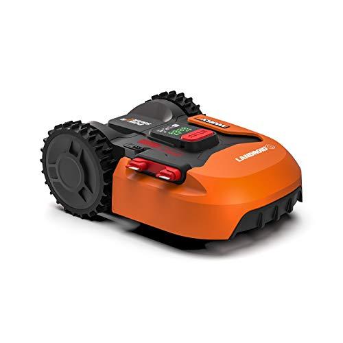 WORX Landroid S WR130E Mähroboter / Akkurasenmäher (für kleine Gärten bis 300 qm / Selbstfahrender Rasenmäher für einen sauberen Rasenschnitt)