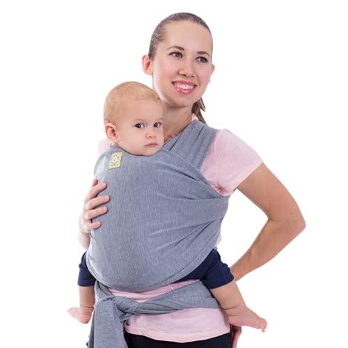 Babywickeltrage - alles in 1 dehnbaren Babytragetuch - Ergo-Tragetuchtragetuch - Babytragenetui - Babytragen für Neugeborene, Kleinkinder - Babyhaltergurte - Babytragetücher (klassisch grau)