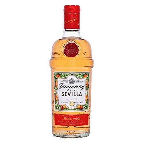 Tanqueray Flor De Sevilla Gin – Fruchtiger und mediterraner Gin mit bitter-süßem Orangenaroma – Ideale Spirituose für Cocktails oder Gin Tonic – 1 x 0,7l