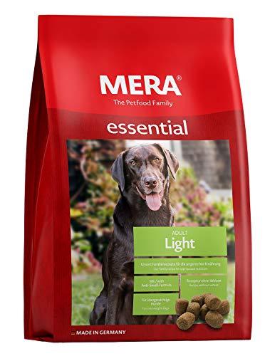 MERA essential Hundefutter  Light  Für übergewichtige Hunde - Geflügel Trockenfutter mit geringerem Fettanteil - Ohne Weizen & Zucker (12,5 kg)