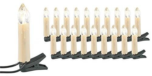 Lunartec Weihnachtsbaumkerzen: LED-Weihnachtsbaum-Lichterkette mit 20 Kerzen, 3 Watt (Christbaum Lichterkette LED)