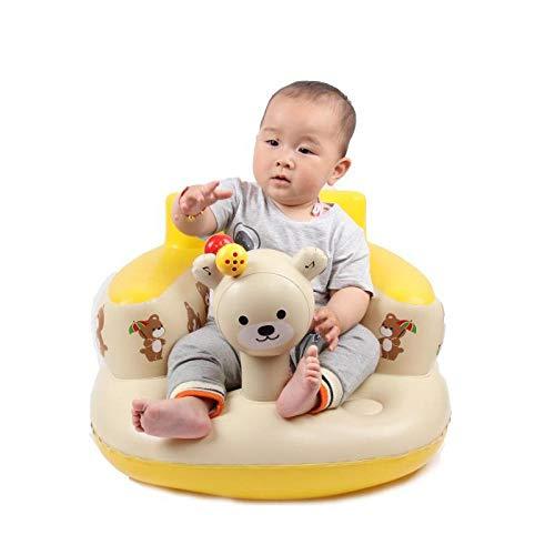 Dtcat Baby aufblasbarer Sitz,Baby-Lernsitz,Baby-Sofasitz,tragbarer Esszimmerstuhl,Badhocker,faltbar,mit Musik @ Beige_Mit Musik,Baby-Badewannensitz