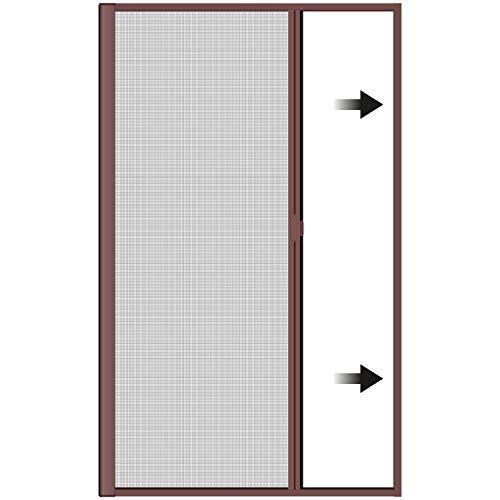Incubado 1PLUS Premium Aluminium Insektenschutz Rollo für Türen in verschiedenen Größen und Farben Farben (160 x 250 cm, Weiß)