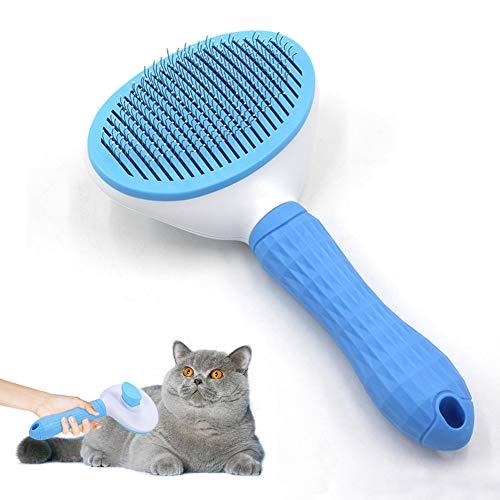 Haustier Hundebürste Katzenbürste,Haustier Bürsten, 4er Pack Praktischer Tierhaarentferner Haar Entferner Haustierbürste mit Reinigungsknopf gegen Verfilzungen für Haustier mit Mittel- und Langhaar