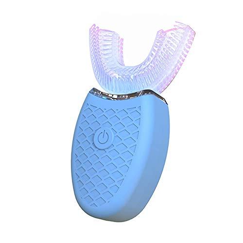 Elektrische Zahnbürste Aufladen, Ultraschall Modell Silikon Adult Electric Lazy Tooth Cleaner,Blue