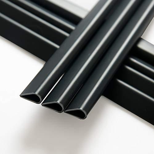 Naimorui 30 Stück Befestigungsclips Klemmschienen für PVC Sichtschutzfolie Sichtschutzstreifen - 30 Stück/Pack, Anthrazit