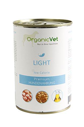 ORGANICVET Hund Nassfutter Veterinary Light, 6er Pack (6 x 400 g)