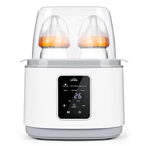 SIMBR Flaschenwärmer Babykostwärmer 6 in 1-Multifunktions Sterilisator für Babyflaschen 270W Konstante Temperatur Erwärmen für nachts, Muttermilch, Milchpulver, Säuglingsnahrung Warmhaltung weiß