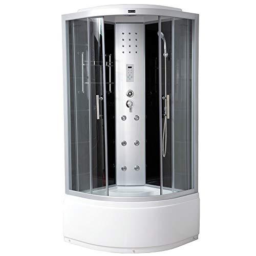 Home Deluxe - Komplettdusche 90x90 - Duschkabine Elegance Plus mit Regendusche | Fertigdusche, Eckdusche, Duschkabine Komplett