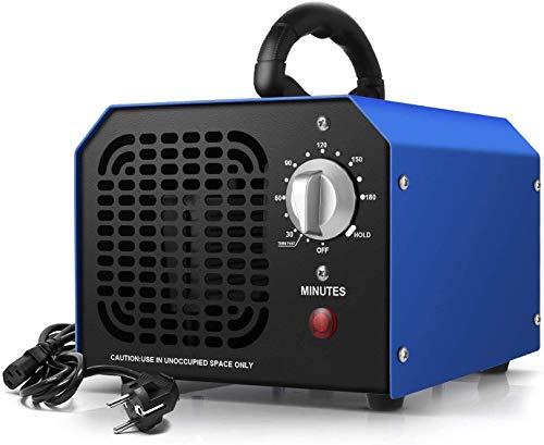 Ozongenerator Ozongerät Geruchsneutralisierer, 6g/h Ozone Generator Geruchsentferner Luftreiniger, Ozon Sterilisator Ionisator Ozonreiniger Lufterfrischer Gerät Ozonator, 3Std Timer/HOLD (dunkelblau)