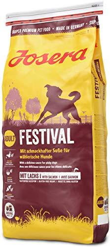 JOSERA Festival (1 x 15 kg) | Hundefutter mit leckerem Soßenmantel | Super Premium Trockenfutter für ausgewachsene Hunde | 1er Pack