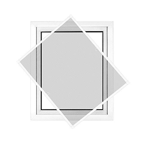 JAROLIFT Insektenschutz Spannrahmen Profi Line für Fenster, Rahmengröße 130cm x 150cm weiss - ohne Bohren montierbar