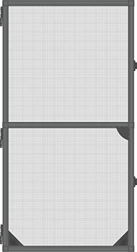1PLUS Insektenschutz Alu Rahmen System Basis für Türen in Verschiedenen Größen und Farben (100 x 215cm, Anthrazit)
