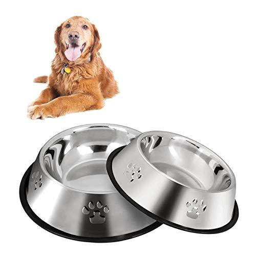 2 Stück Edelstahl Hundenapf, rutschfeste Hundenäpfe/Futternapf,Hundenapf Mittelgroße Hunde (M-22cm/8.6')