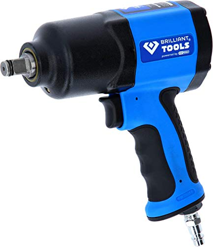 BRILLIANT TOOLS BT160100 1/2 Zoll Druckluft-Schlagschrauber, 1450 Nm [Powered by KS TOOLS]