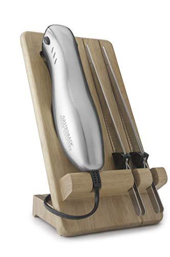 Gastroback 41600 Home Culture-Design Elektro Messer, INOX-Touch-Gehäuse, 120 Watt, inkl. Multischnitt-und Wellenschliffklinge