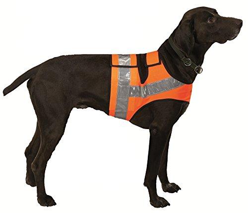 FARM-LAND Hunde Reflektorweste Warnweste Leuchtweste Jagdweste (1 = Teckel/Terrier bis 64cm)