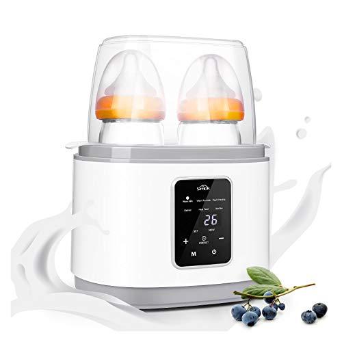 SIMBR Flaschenwärmer Babykostwärmer, Sterilisator für Babyflaschen, 6 in 1 multifunktionaler Flaschenwärmer, schnelle Erwärmung, mit Temperatur, LCD Display und Timer