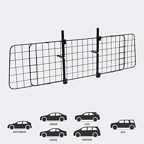 Wiltec Hundegitter fürs Auto mit Verstellbarer Breite von 87-135cm, Trenngitter universell einsetzbar