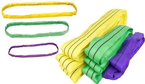 Hebeschlinge Rundschlinge Schlupf Hebeband 1 bis 10 Tonnen Schlinge 1 bis 12 Meter Umfang wählbar (4000 kg / 2m Umfang)