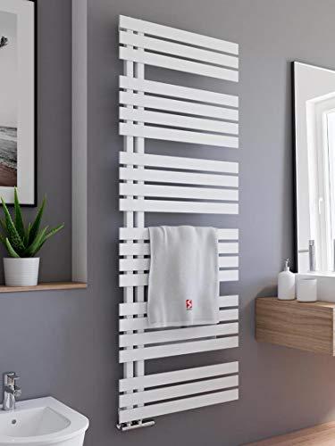 Schulte H02416960 04 Badheizkörper Breda, 169 x 60 cm, 838 Watt Leistung, Anschluss unten, alpinweiß, Heizkörper mit Handtuchhalter-Funktion