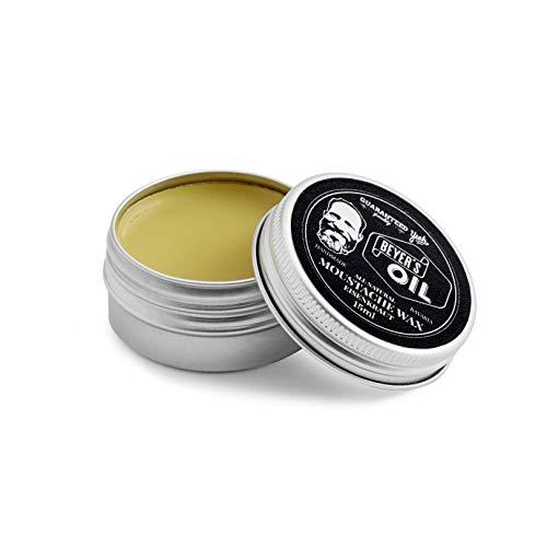 Beyer's Oil Moustache Wax Eisenkraut 15 ml - Bartwichse - Handgemacht in Bayern - 100% natürlich - Mit Bienenwachs aus dem Chiemgau - Formt den Oberlippenbart zu einem perfekten Schnauzbart