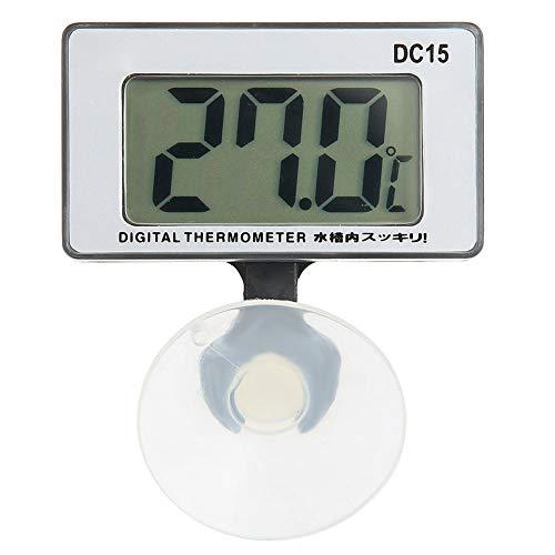 Aquarium-Thermometer mit Saugnapf, Aquarium-Wasserthermometer Elektronisches Hygrothermograph-Aquarium-Thermometer für Innen und Außen