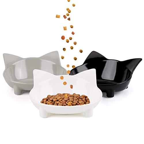 Futternapf Katze, Legendog 3 Stück Edelstahl Rutschfest Katzen Napf   Katzennapf Set   Fressnapf Katze   Futterschüssel Katze   Wasser Fütterung Schüssel