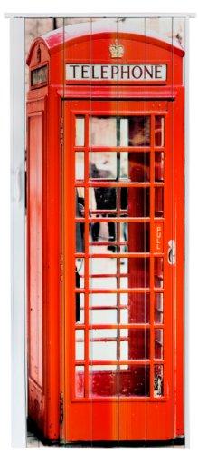 Falttür Schiebetür Tür mit Motiv Telefonzelle bunt farben Höhe 202 cm Einbaubreite bis 83 cm Doppelwandprofil Neu