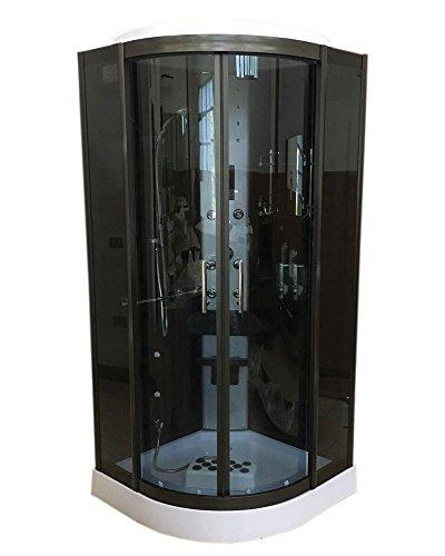 Dusche Duschkabine Modell Vancouver 100 x 100 cm h 215cm Duschtempel Duschabtrennung Eckdusche Chromotherapy