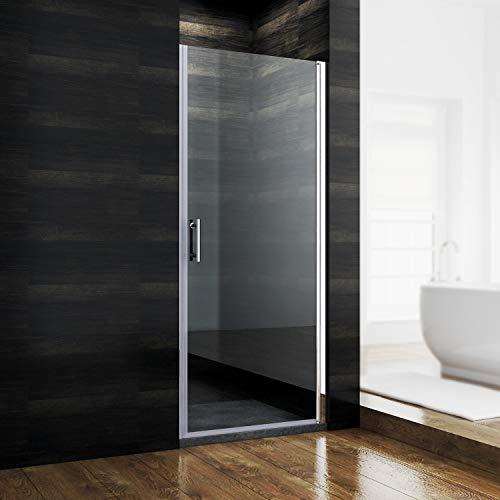 SONNI Duschtür 90 cm nischentür dusche Nano Glas Duschkabine Pendeltür dusche duschtrennwand Duschabtrennung