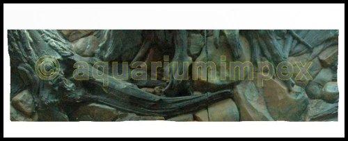 3D Rückwand 150x50 Aquariumrückwand Amazonas