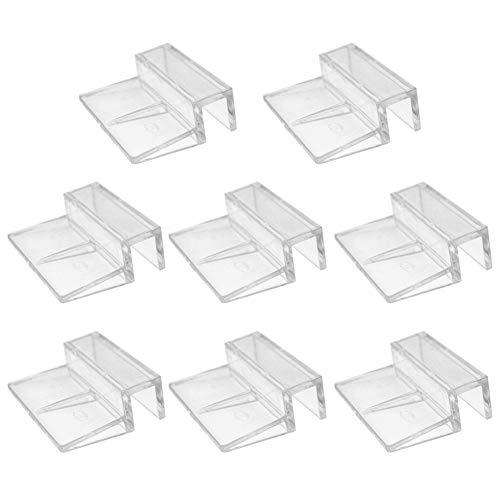 Glasabdeckungs-Clips für Aquarien, 6 mm, 8 mm, 10 mm, 2 mm, Acryl-Clips, Glasabdeckung, universale Halterungen für randlose Aquarien, 8 Stück