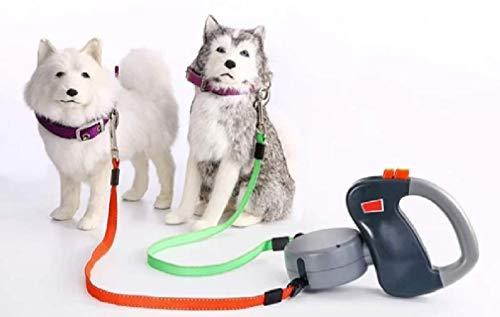 Dual Doggie Pet Leash Hundeleine, bis zu 22,7 kg pro Hund, kein Verheddern, 2 Hunde gleichzeitig