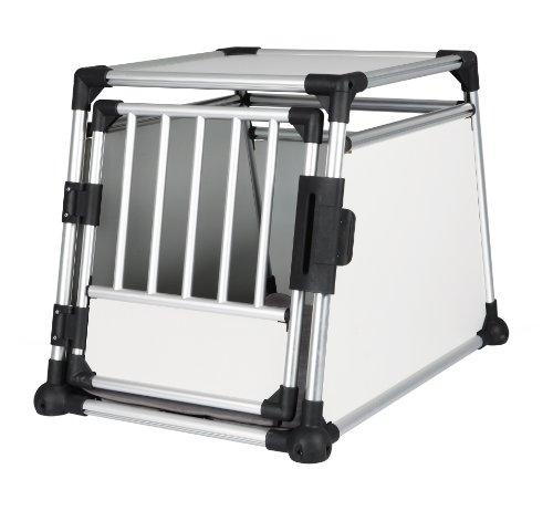 Trixie 39342 Transportbox, Aluminium, M–L: 63 × 65 × 90 cm, silber/hellgrau