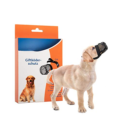 MYPURECORE Nylon-Mesh-Hundemaulkorb, Mit Verstellbarem Ring, Bequem Und Atmungsaktiv, Verhindert BeißEn, Bellen Und Kauen, Geeignet FüR Kleine Hunde (Schwarz) (S)