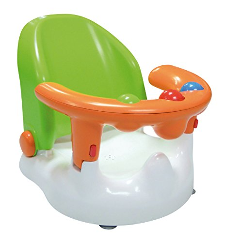 SARO – Baby-Badewannensitz mit verstellbarer Rückenlehne und mehreren Sitzpositionen Mit starken Saugnäpfen, ergonomisch geformter Rückenlehne und Öffnung an der Vorderseite. (grün)