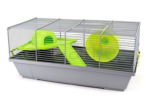 GarPet Mäusekäfig Hamsterkäfig Nagerkäfig Schlafhaus Laufrad Etage Rampe