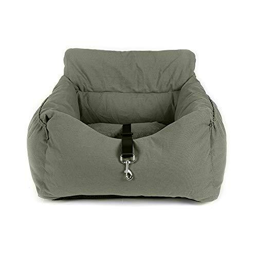 Jodimitty Hunde Autositz,Auto Hundesitz für Kleine Mittlere Hunde Waschbarer Rutschfester Sicherheitssitz für Hunde, Inklusive Sicherheitsgurt, Hundeautositz für Rück und Vordersitz(grün)