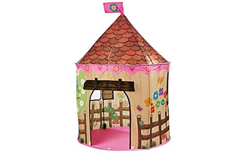 Spielzelt für Mädchen oder Jungen, Burg Turm für Prinzessinnen, Pop up Super einfach und schnell auf- und abbauen. Das perfekte Geschenk Schloss Spielhaus Zelt