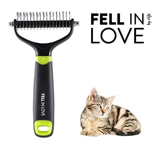 riijk Pflegebürste für Katzen, Tierhaarbürste für die Unterfell-Pflege, Katzenbürste für Langhaar Tiere